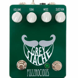Fuzzrocious Pedals Grey Stache (Diode + Killswitch Mod)