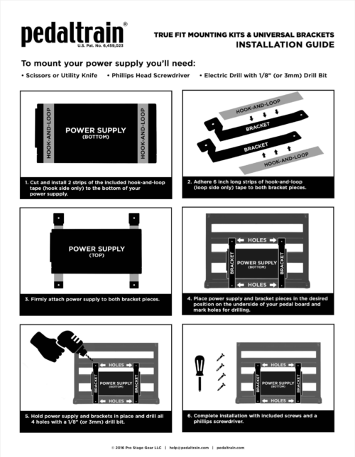 Pedaltrain Universal Bracket Installation Guide