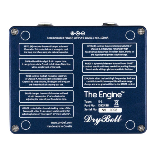 DryBell The Engine - backplate view
