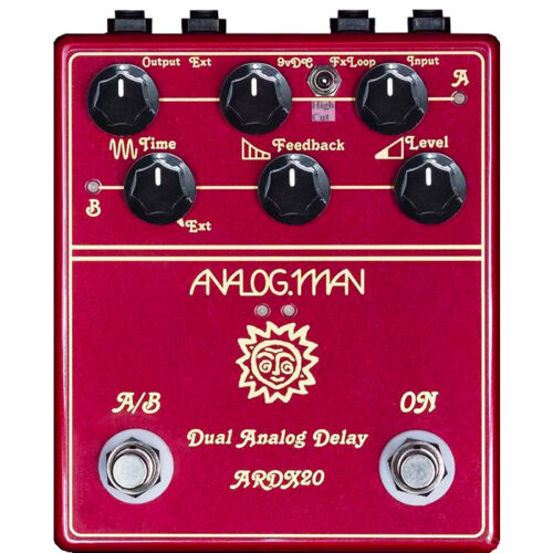 Analog Man ARDX20 Dual Analog Delay (w/ remote switching jack, left side)