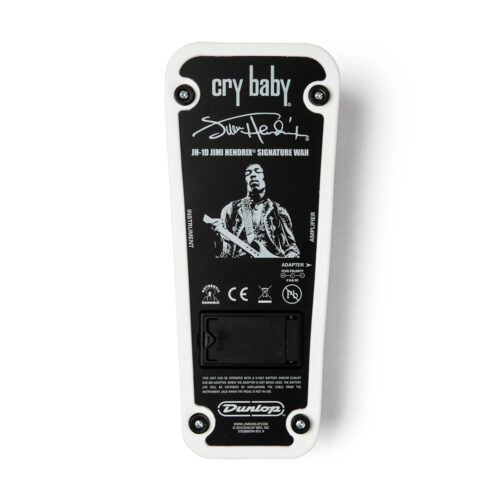 Dunlop Jimi Hendrix Cry Baby JH1D - bottom plate view