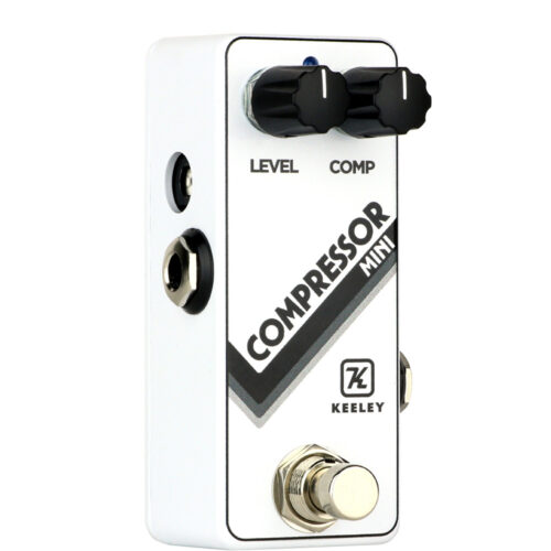 Keeley Compressor Mini Limited Edition Arctic White - angled view