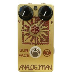 Analog Man Sun Face RCA 1960s germanium w/Sun Dial (red LED, DC power jack, top-mounted jacks)