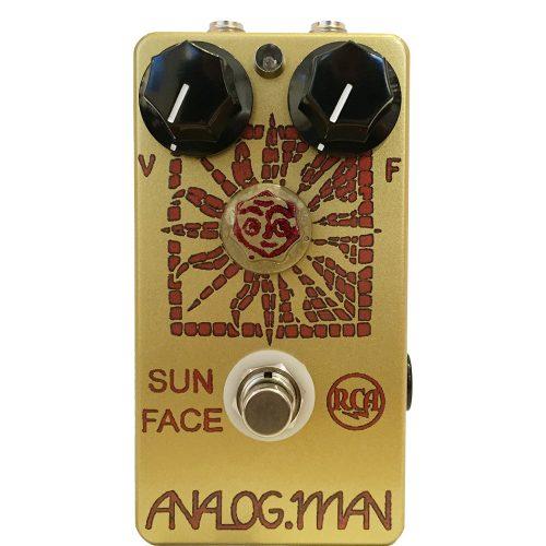 Analog Man Sun Face RCA 1960s germanium w/Sun Dial (red LED, DC power jack, top-mounted jacks)