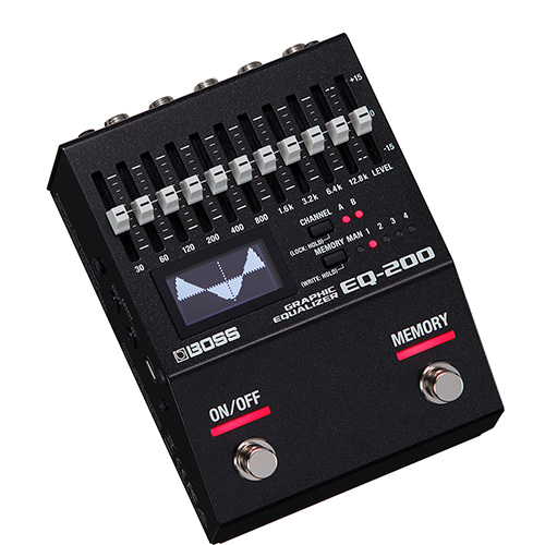 Boss EQ-200 Graphic Equalizer - angled view