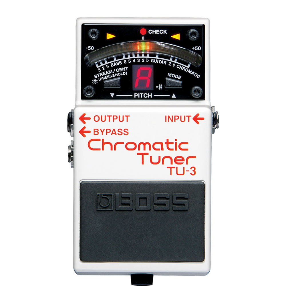 Boss TU-3 Chromatic Tuner for Electric /& Bass Guitars with Microfiber and Free EverythingMusic 1 Year Extended Warranty
