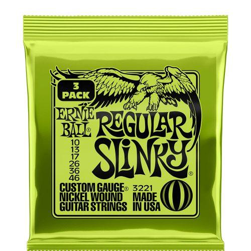Ernie Ball Regular Slinky 10-46, 3-pack